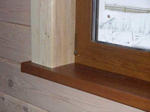 Отделка деревянными откосами