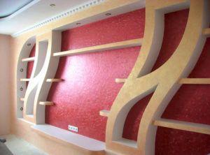 Варианты оформления стен из гипсокартона