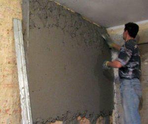 Выравнивание кирпичной стены