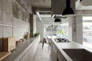 кухня в бетоне