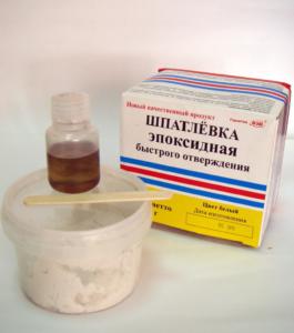 Использование эпоксидной шпаклевки