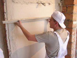 Устройство гипсокартонового покрытия по кирпичным стенам