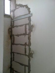 монтаж перегородочной стены