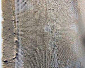 Армирование стен стекловолоконным полотном