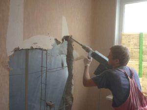 убрать стену