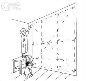 разметка на стенах