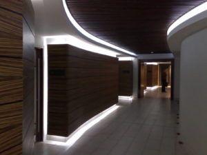 Монтаж декоративной подсветки стен