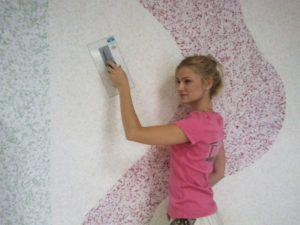 нанести на стены