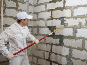 Расход грунтовки для стен