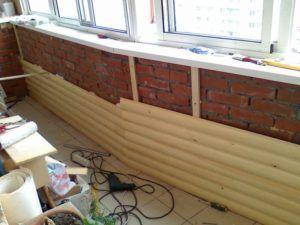Установка панелей блок-хауса