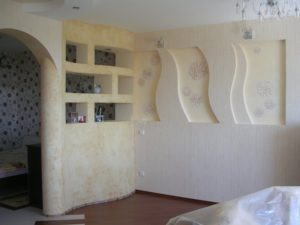 каркасные стенки спальня