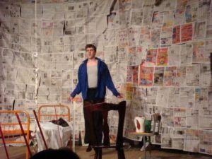 газеты на стене