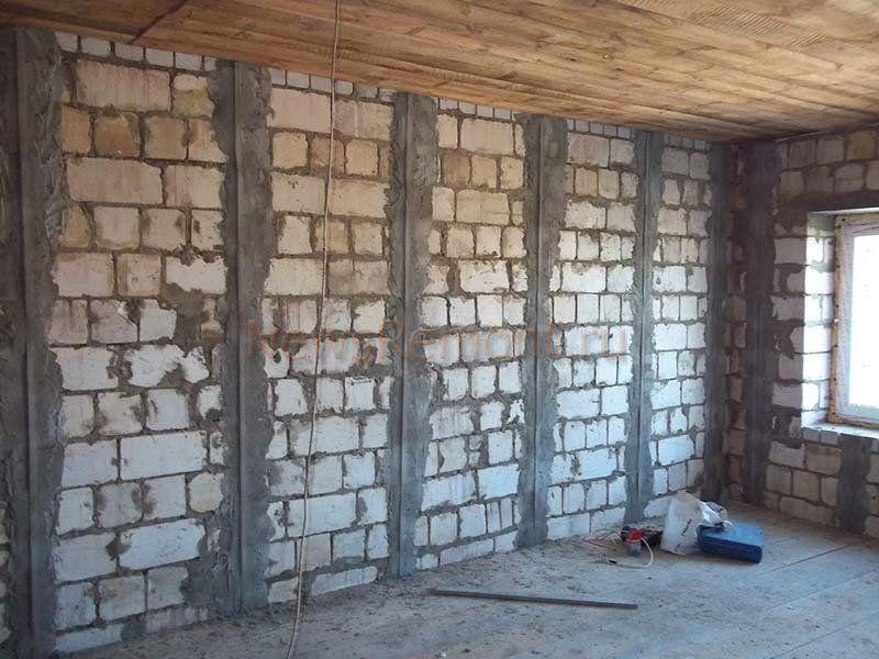 стена под отделку