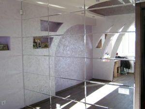 сделать зеркальную стену