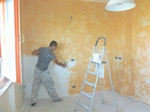 стена оштукатуривание