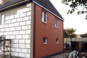 утеплить стены из газобетона снаружи