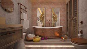 Декоративное оформление ванной