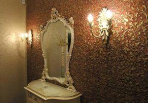 Линкруст в интерьере комнаты