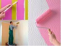 Покраска оклеенных стен