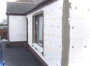 Пример внешнего утепления стен