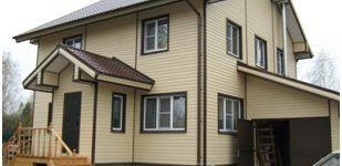 Утепленный и отделанный сайдингом дом