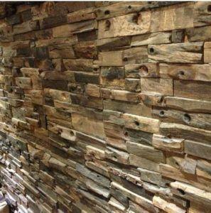 Стена из дерева с 3Д эффектом