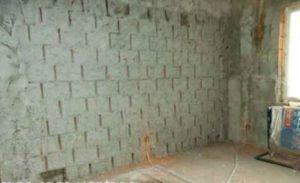 Стена покрытая обрызгом