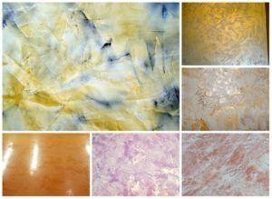 Покрытия разных цветов и оттенков