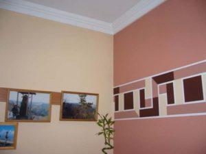 Декор водоэмульсионной краской