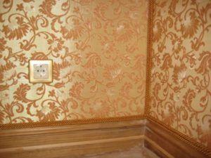 Отделка стен текстилем