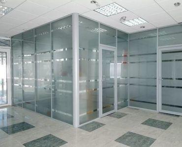 Перегородки для офиса стационарного типа