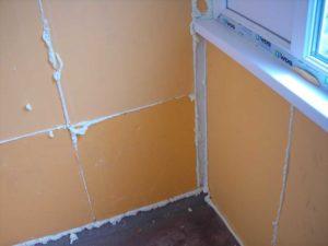 Отделка стен пеноплексом внутри