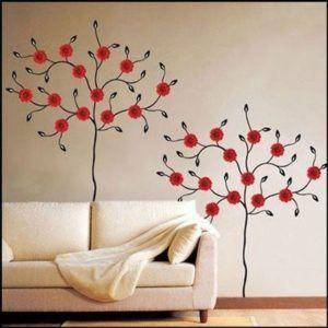 Один из простых вариантов росписи стен в квартире своими руками