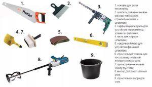 Набор необходимых рабочих инструменты