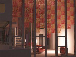 Условное разделение пространства с помощью декоративных элементов