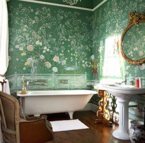 Фантазия в зеленых тонах для ванной комнаты