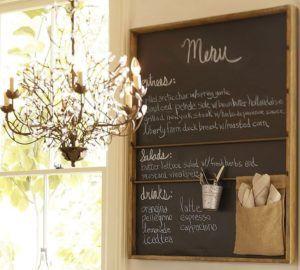 Функциональная информативная доска – интересный элемент декора кухни