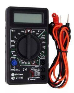 Мультиметр DT-832 с разъемом под транзистор