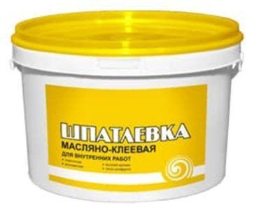 Масляно-клеевая шпатлевка – распространенный вид отделочных материалов
