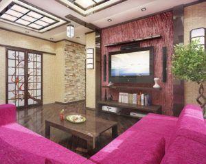 Грамотное сочетание цветов также крайне важный фактор при оформлении гостиной.