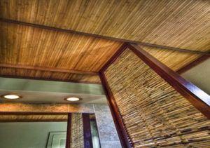 Отделка стен и потолка бамбуком