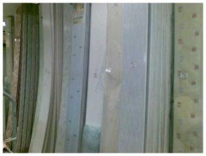 ПВХ-панели в строительном магазине