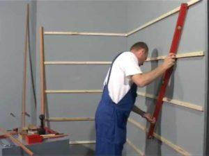 Установка деревянной обрешётки