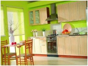 Окрашенные кухонные стены