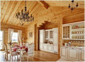 Обшивка стен внутри деревянного дома