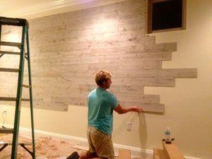 Имитация деревянной стены