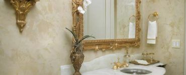 Венецианская штукатурка в интерьере ванной