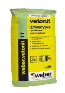 Штукатурка на цементной основе «Vetonit» в мешке