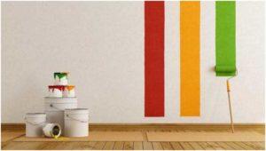 Покраска стен в квартире с применением профессиональных материалов и инструментов.