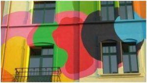 Красочные фасадные панно из силиконовой штукатурки
